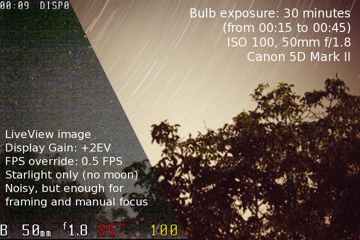 Firmware Magic Lantern pour Reflex Canon Nightdemo